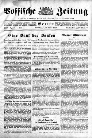 Vossische Zeitung vom 26.07.1931