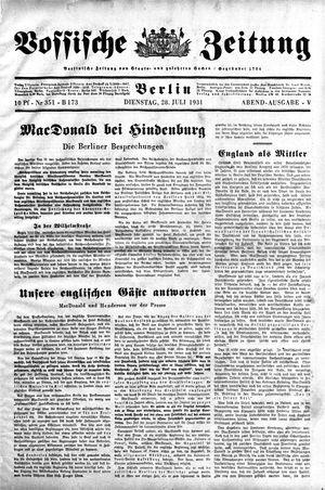 Vossische Zeitung vom 28.07.1931