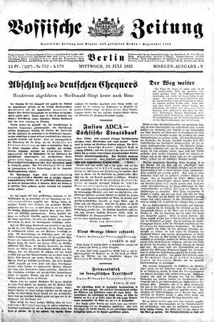Vossische Zeitung vom 29.07.1931