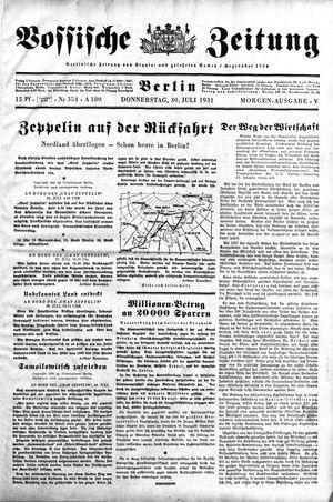Vossische Zeitung vom 30.07.1931