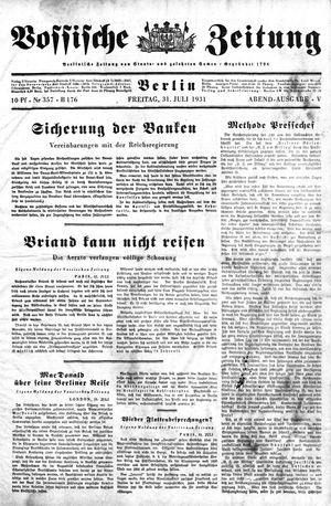 Vossische Zeitung vom 31.07.1931