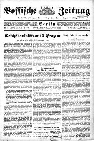 Vossische Zeitung vom 01.08.1931