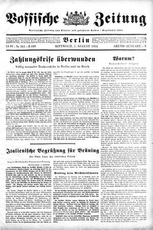 Vossische Zeitung vom 05.08.1931