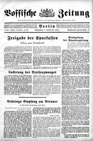 Vossische Zeitung vom 07.08.1931