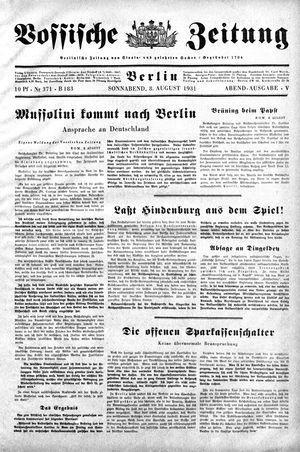 Vossische Zeitung vom 08.08.1931