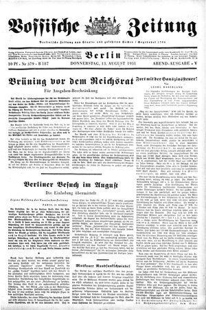 Vossische Zeitung vom 13.08.1931
