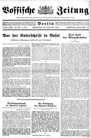 Vossische Zeitung vom 18.08.1931