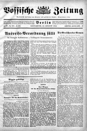Vossische Zeitung vom 22.08.1931