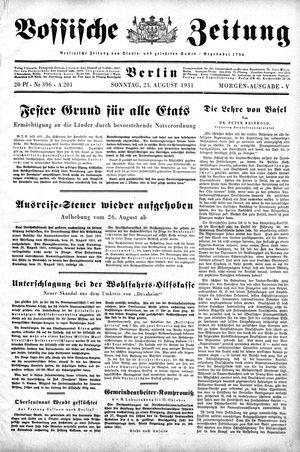 Vossische Zeitung vom 23.08.1931