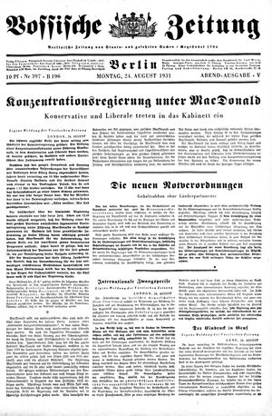 Vossische Zeitung vom 24.08.1931