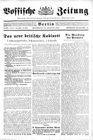 Vossische Zeitung vom 26.08.1931
