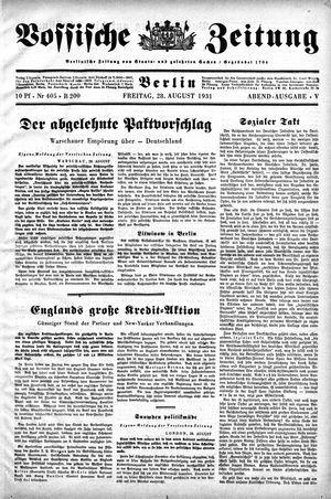 Vossische Zeitung vom 28.08.1931