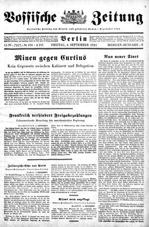 Vossische Zeitung vom 04.09.1931