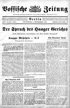 Vossische Zeitung on Sep 5, 1931