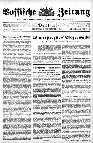 Vossische Zeitung on Sep 8, 1931