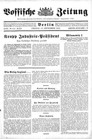 Vossische Zeitung vom 25.09.1931