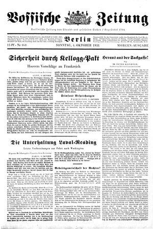 Vossische Zeitung vom 04.10.1931