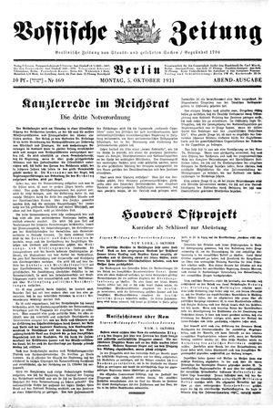 Vossische Zeitung vom 05.10.1931