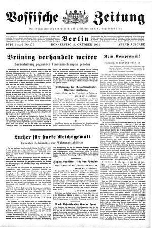 Vossische Zeitung vom 08.10.1931