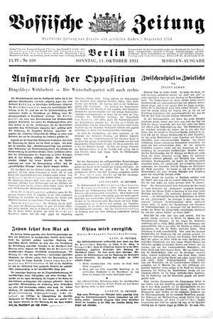 Vossische Zeitung vom 11.10.1931