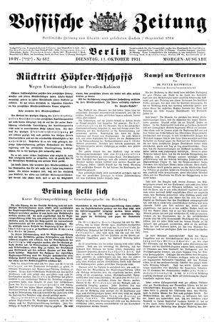 Vossische Zeitung vom 13.10.1931