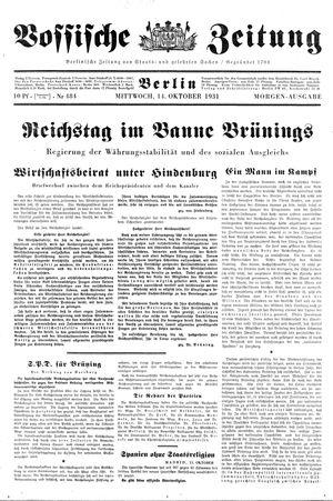 Vossische Zeitung vom 14.10.1931