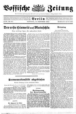 Vossische Zeitung on Oct 18, 1931
