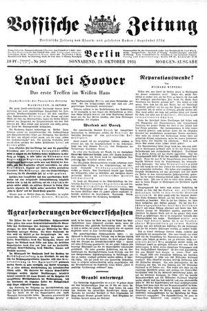 Vossische Zeitung vom 24.10.1931