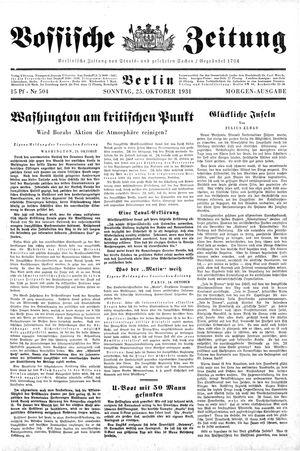 Vossische Zeitung vom 25.10.1931