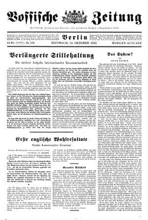 Vossische Zeitung vom 28.10.1931