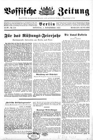 Vossische Zeitung vom 01.11.1931
