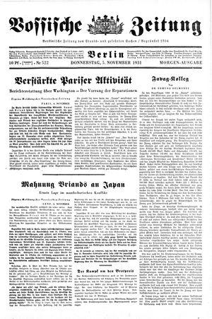 Vossische Zeitung vom 05.11.1931