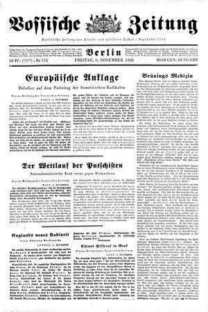 Vossische Zeitung vom 06.11.1931