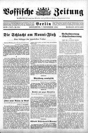 Vossische Zeitung vom 07.11.1931
