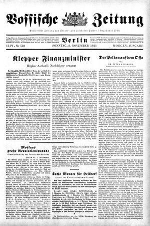Vossische Zeitung vom 08.11.1931
