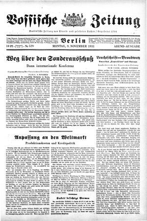 Vossische Zeitung vom 09.11.1931