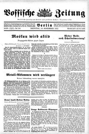 Vossische Zeitung vom 10.11.1931