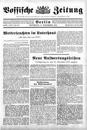 Vossische Zeitung on Nov 11, 1931