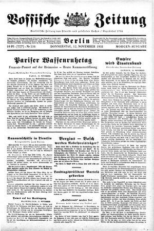 Vossische Zeitung vom 12.11.1931