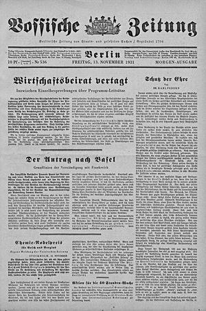 Vossische Zeitung vom 13.11.1931