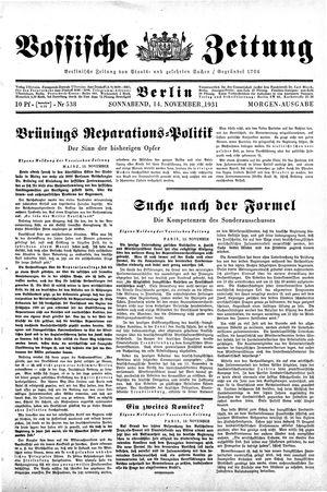 Vossische Zeitung vom 14.11.1931