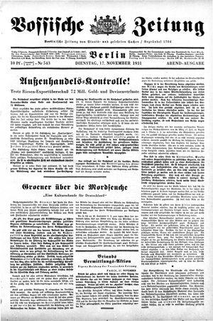 Vossische Zeitung vom 17.11.1931