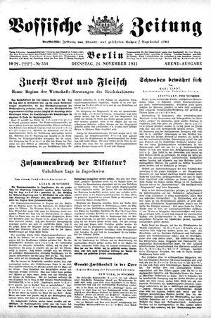 Vossische Zeitung vom 24.11.1931