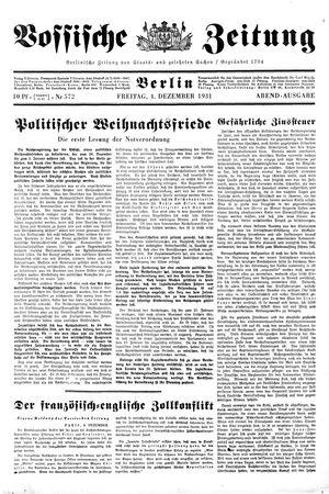 Vossische Zeitung vom 04.12.1931