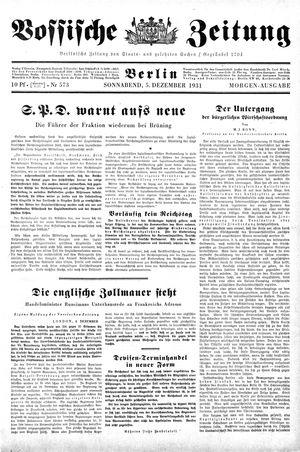 Vossische Zeitung on Dec 5, 1931