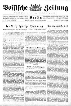 Vossische Zeitung vom 08.12.1931