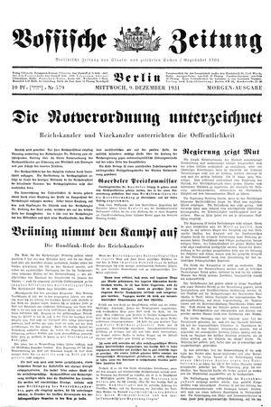 Vossische Zeitung vom 09.12.1931