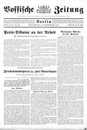 Vossische Zeitung vom 10.12.1931