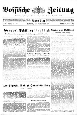 Vossische Zeitung vom 14.12.1931