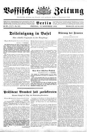 Vossische Zeitung vom 18.12.1931
